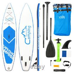 12' Inflatable SUP Stand Up Paddle Board with Adjustable Paddle