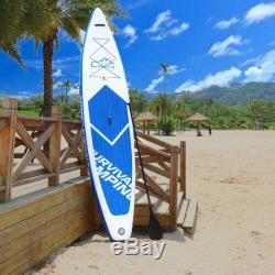 12' Inflatable Stand Up Paddle Board Bundle for Paddling and Surfing