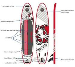 12' Inflatable Stand Up Paddle Board SUP Surfboard with complete kit Reinforced