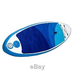 1INCH 10' Inflatable SUP Stand Up Paddle Board with Adjustable Paddle & Backpack E