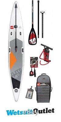 2018 Red Paddle Co Elite 14'0 x 27 Inflatable Stand Up Paddle Board + Bag, Pump