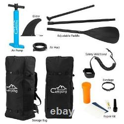 2021 Upgraded 11' Inflatable Stand Up Paddle Board Wide Pump Non-Slip