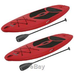 2 Lifetime 10' Hardshell Horizon Stand Up Paddle Boards Fire Red New