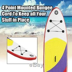 300x76x10CM 10FT SUP Inflatable Surfing Board Soft Surf Stand Up Paddle Board