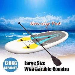 330x76x15CM 10FT SUP Inflatable Surfing Board Soft Surf Stand Up Paddle Board