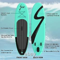6 Thick Inflatable StandUp Paddle Board Non Slip SUP Deck with Complete Kit