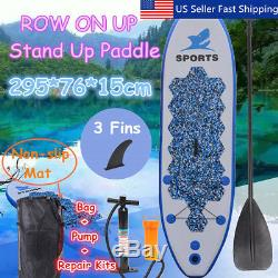 9.6ft Aqua Inflatable Stand Up Paddle Board Bundle for Paddling and Surfing Set