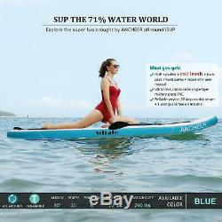 ANCHEER 10' (6 Thick) Inflatable SUP Stand Up Paddle Board Package Adjustable