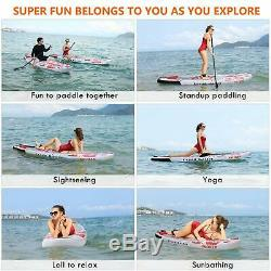 ANCHEER 10' Inflatable Stand Up Paddle Board 6Thick withSUP Accessories&Carry Bag