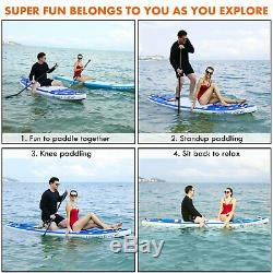 ANCHEER 11'6' Inflatable Stand Up Paddle Board SUP Adjustable Paddle Backpack us