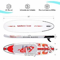 ANCHEER Inflatable Stand Up Paddle Board 10Ft. Non-Slip Deck 6 Thick iSUP Board