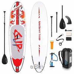 ANCHEER Inflatable Stand Up Paddle Board 10' Non-Slip Deck 6 Thick iSUP Boards