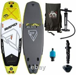 Aqua Marina BT-18RP Rapid 9.6 Foot Inflatable SUP Stand Up Paddleboard