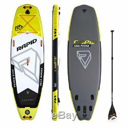 Aqua Marina BT-18RP Rapid 9.6 Foot Inflatable SUP Stand Up Paddleboard, Yellow