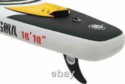 Aqua Marina Drop Stitch Inflatable SUP Stand Up PaddleBoard ALMOST 11 FEET LONG