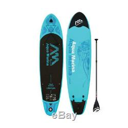 Aqua Marina Inflatable Vapor 130 Inch Wide Style Stand Up Paddleboard Set, Blue