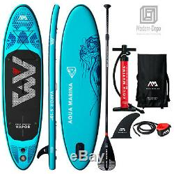 Aqua Marina Vapor 9'10 Stand Up Paddle Board Inflatable SUP with Paddle