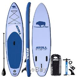 Atoll 11' Foot Inflatable Stand Up Paddle Board, iSUP, Paddle, Colorado Pickup