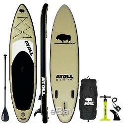 Atoll 2019 11' Foot Inflatable Stand Up Paddle Board, iSUP, Paddle complete