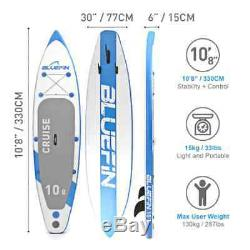 BLUEFIN Inflatable SUP 108 Stand Up Paddle Board/Kayak iSUP + Go Pro Holder
