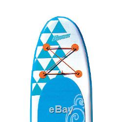 Banzai 10 Foot x 30 Inch Life Inflatable Stand Up Paddle Board with SUP Paddle