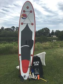 Beach Bum SPK2 10' 10'' Inflatable Stand Up Paddle Board with Paddle and leash