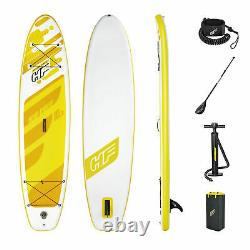 Bestway Hydro Force Aqua Cruise Inflatable 10.5 Ft SUP Stand Up Paddle Board Set