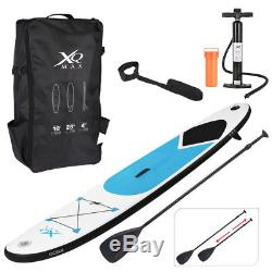 Blue Paddle Board Sports Surf Inflatable Stand Up Water Racing SUP Bag Pump Oar