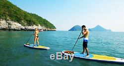 Blue Water Toys 9' SUP Inflatable Stand Up Paddle Board Set with Travel Backpack