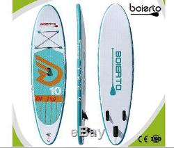 Boierto 10ft surf board Inflatable Stand Up Paddle Board SUP 10'X30''X4'