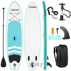 CAROMA 10.5ft Inflatable Stand Up Paddle Board Surfboard Non-Slip & complete kit