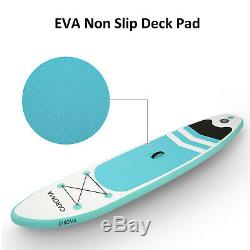 CAROMA 10' Inflatable Stand Up Paddle Board SUP Surfboard Surfing No-Slip
