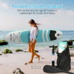 CAROMA 10' Inflatable Stand Up Paddle Board SUP Surfboard with complete kits