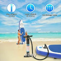 Caroma 12'6×30×6Inflatable Paddle Board Stand Up Paddle Board+Travel Backpac