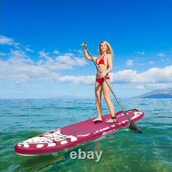 Costway 11' Inflatable Stand Up Paddle Board WithCarry Bag Adjustable Paddle Adult