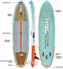 DRIFT Inflatable Stand Up Paddle Board, SUP with Accessories Pump