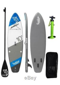 DVSPORT 10 Inflatable Stand up Paddle Board with SUP Accessories