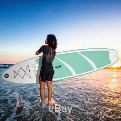 Double Layers 10' Inflatable Stand Up Paddle Board SUP 3 Fins SET with Backpack