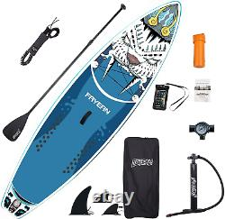 FAYEAN Inflatable Stand Up Paddle Board 10.5' x 32.5x 6 Thick Round SUP ISUP B