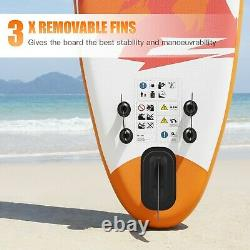 Famistar 8ft' Inflatable Stand Up Paddle Board SUP with 3 Fins Adjustable Paddle
