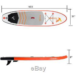 Freein 7'8'' White Inflatable Stand Up Paddle Board ISUP Board with Kid Paddle