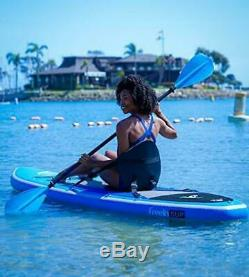 Freein Stand Up Paddle Board Inflatable SUP 10' Long with Kayak blue 10 surf