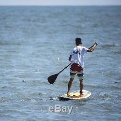 GREAT SUP Inflatable 11' Explorer Stand Up Paddle Board (4 Thick) yellowithblack