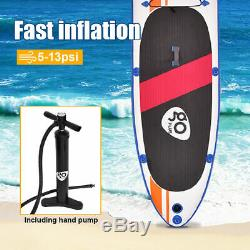 Goplus 10' Inflatable Stand Up Paddle Board SUP Fin Adjustable Paddle Backpack