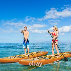 Goplus 11' Inflatable Stand Up Paddle Board SUP Surfboard WithPump Aluminum Paddle