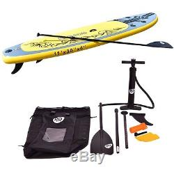 Goplus 11' Inflatable Stand Up Paddle Board with 3 Fins Surfboard Beach Holiday