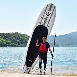 Goplus 11' Inflatable Stand Up Paddle Board with Paddle Manual Pump Leash Backpack