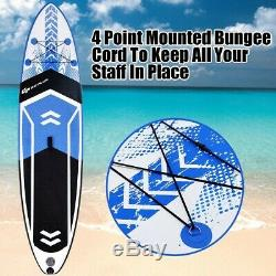 Goplus Blue 10.5' SUP Inflatable Stand up Paddle Board with Adjustable Backpack