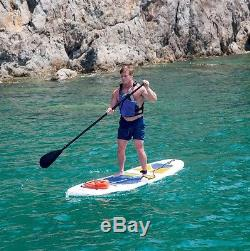 HYDRO FORCE 10' Inflatable Stand Up Paddle Board with Compleate Accessory Kit