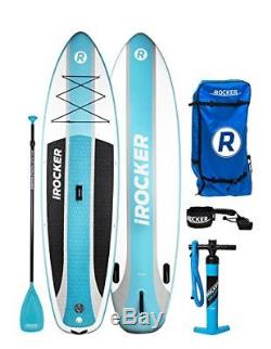IROCKER CRUISER Inflatable Stand Up Paddle Board 10'6 Long 33 Wide 6 Thick SUP